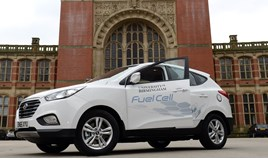 University of Birmingham takes delivery of hydrogen fuel cell fleet vehicle